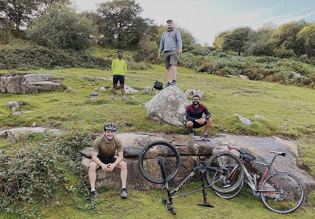 Jerin in Dartmoor on his bike
