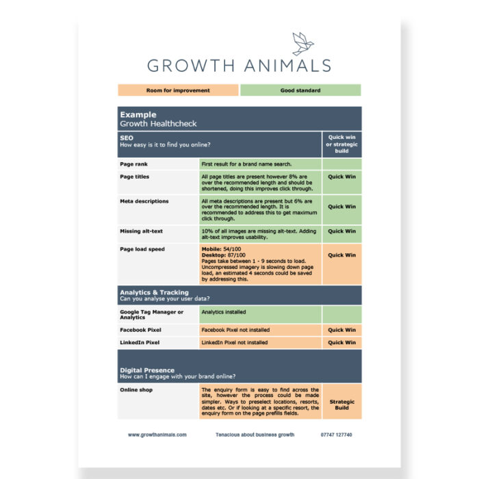 Growth Healthcheck £99